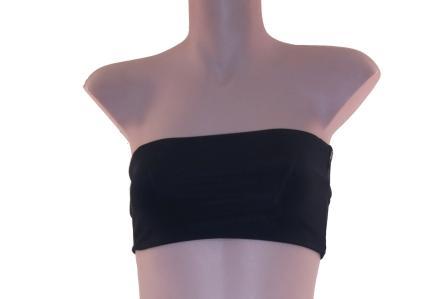 Womens Strapless Yoga Top Bandeau Twist 933 Black