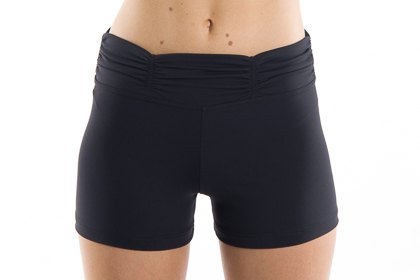 womens yoga shorts Black Scrunch Band