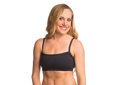 W Anahata Yoga Clothing Crystal basic black crop top