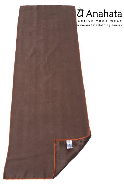 Anahata Active Yoga Wear  Non Slip Yoga Towel Cappuccino