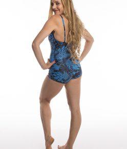 Anahata Yoga clothing womens leotard Blue Lotus