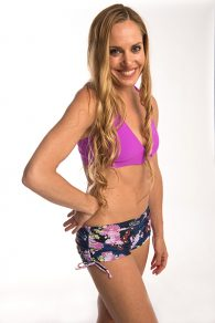 Anahata Yoga Clothing -Close fitting Yoga Short with adjustable tie sides for you to choose the length, generous inseam keeps you covered.