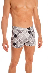 Anahata Yoga Clothing Mens Yoga Short. A classic and comfortable, printed basic slim fitting men's short perfect for Bikram or Hot Yoga.