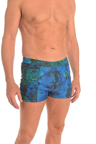 Anahata Yoga Clothing Crystal mens double front shorts