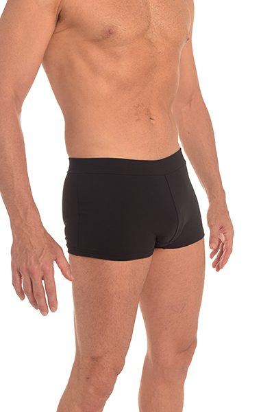 Anahata Yoga Clothing Mens 60's style trunk yoga short – Black