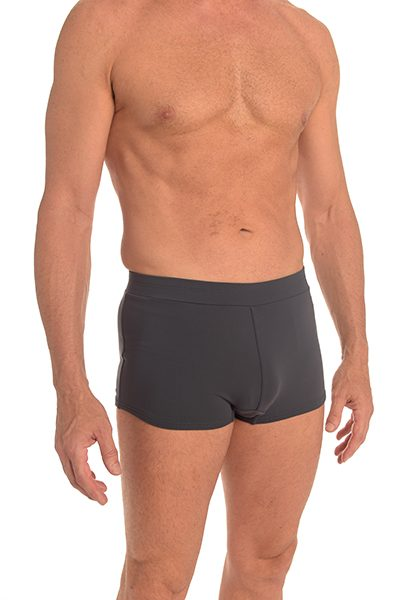 Anahata Yoga Clothing Mens 60's style trunk yoga short – Charcoal