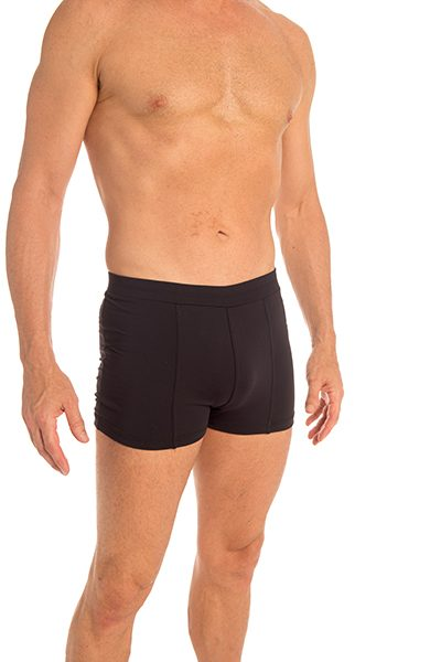 Anahata Yoga Clothing Mens double front short – Black