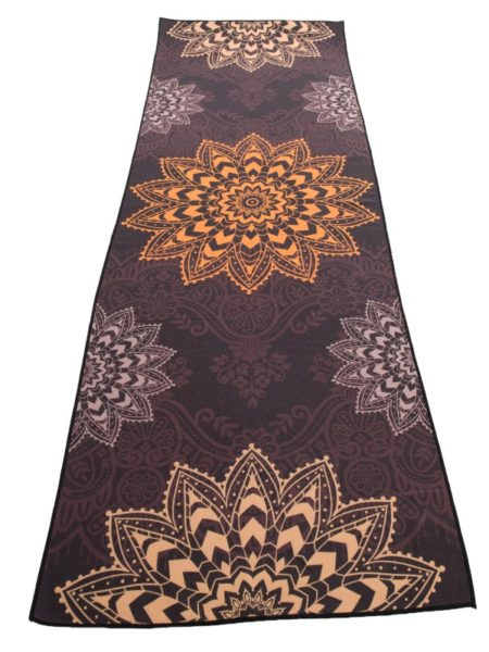 Anahata Yoga Clothing Limited Edition Printed Non Slip Yoga Towel Sun Lotus