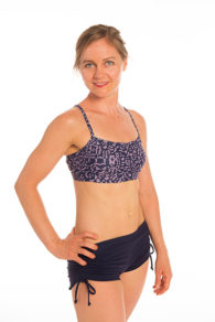 Anahata Yoga Clothing Medina yoga crop tops side tie shorts