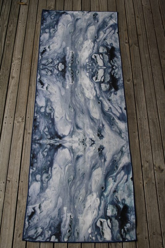 Anahata Yoga Clothing Limited Edition Printed Non Slip Yoga Towel Blue Flow