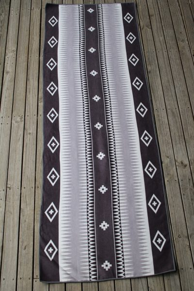Anahata Yoga Clothing Limited Edition Printed Non Slip Yoga Towel Tonal Tribal