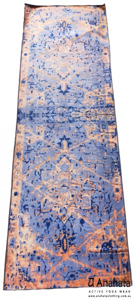 Anahata Yoga Clothing Limited Edition Printed Non Slip Yoga Towel Antique Carpet