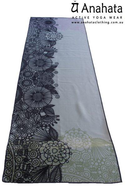 Anahata Yoga Clothing Limited Edition Printed Non Slip Yoga TowelMehndi