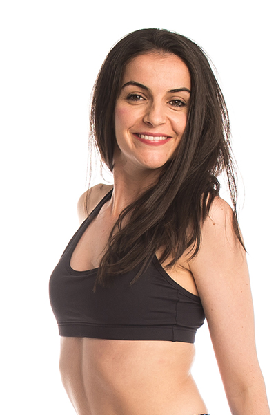 key hole sports bra, double lined front, secret pocket for pad. Wide cross over straps for support.