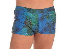 Mens Yoga Short 60's Style Trunk print