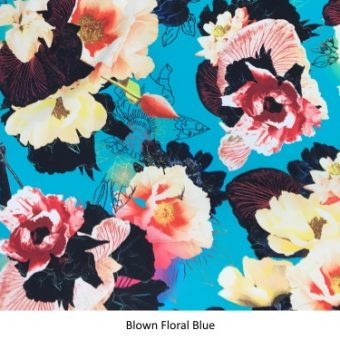 Blown Floral Blue