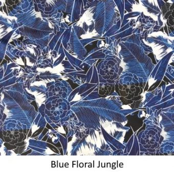 Blue Jungle Print