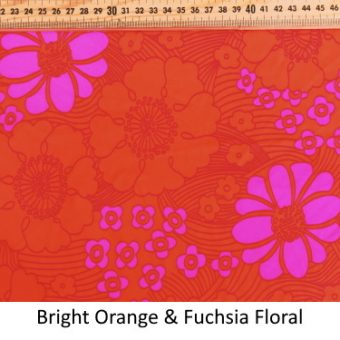 Bright Orange & Fuchsia Floral