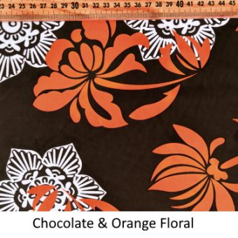 Chocolate & Orange Floral