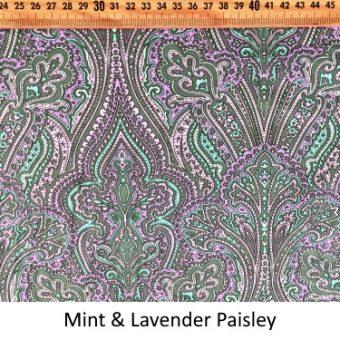 Mint & Lavender Paisley