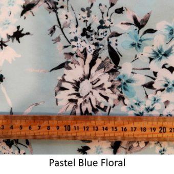 Pastel Blue Floral