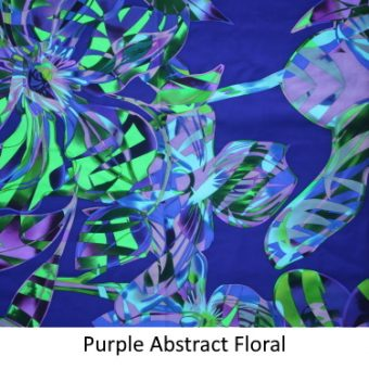Purple Abstract Floral